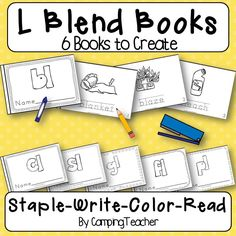 L Blend Books staple write color and read by CampingTeacher