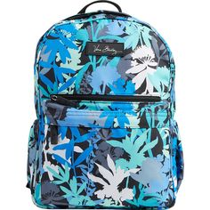 Vera Bradley Lighten Up Just Right Backpack ($75) ❤ liked on Polyvore featuring bags, backpacks, green, school & day hiking backpacks, logo bags, top handle bag, knapsack bags, blue backpack and polyester backpack