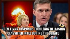 Hillary Clinton had a bad debate night. Trump won that debate hands down, with many saying it was his best debate thus far. The night was so bad for Hillary, that she gave up more CLASSIFIED information – this time regarding our nuclear launch times. Watch the clip: No one caught that Crooked Hillary stated on LIVE TV what our NUKE RESPONSE TIME IS 4 MIN??@FoxNews @DRUDGE #debatenight #ChrisWallace pic.twitter.com/QBbbmGkmeL — John T. Miller (@cyvault) October 20, 2016 General Flynn has…
