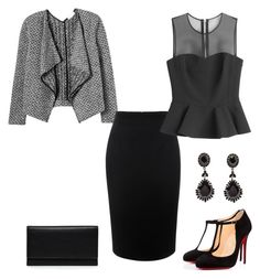 Untitled #641 by adancetovic on Polyvore featuring McQ by Alexander McQueen, Rebecca Taylor, Alexander McQueen, Christian Louboutin, Carré Royal and Givenchy