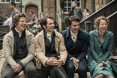 Death comes to Pemberley. Wonder what they're all laughing about?