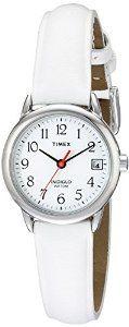 Amazon.com: Timex Women's T2H391 Easy Reader White Leather Strap Nurse's Watch: Timex: Watches