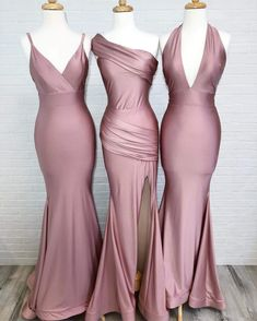 dusty rose wedding Simple Dusty Rose Cheap Mermaid Long Bridesmaid Dresses Online, bridesmaiddresses are fully lined, chest pad in the bust, lace up back or zipper back are Silk Bridesmaid Dresses, Wedding Bridesmaids, Prom Dresses, Wedding Dresses, Cheap Dresses, Beautiful Bridesmaid Dresses, Long Dresses, Braids Maid Dresses, Azazie Bridesmaid