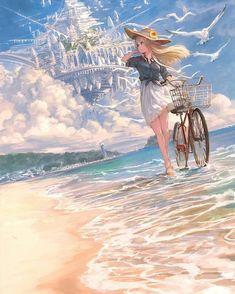 You Shimizu Image - Zerochan Anime Image Board Anime Girl Cute, Kawaii Anime Girl, Anime Art Girl, Anime Love, Manga Art, Manga Anime, Fantasy Art Landscapes, Fantasy Artwork, Image Manga