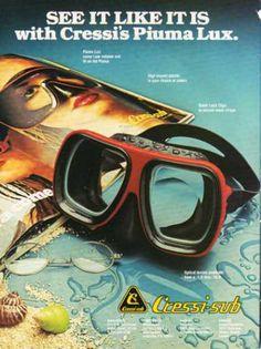Cressi Sub Scuba Diver Piuma Lux Mask (1979)