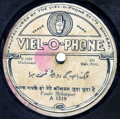 78 Rpm Records Of Indian Music Pandit Shikarpuri Running Gamak Warren Senders