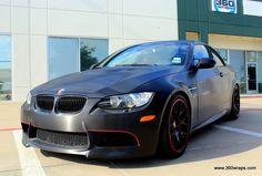 BMW M3 Hardtop Convertible black brushed steel with carbon fiber wrapped accents with Lambo Doors