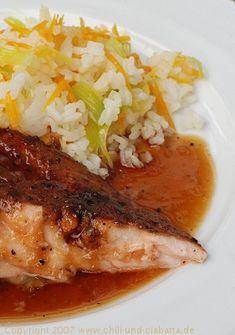 Chili und Ciabatta: Lachs mit Ingwer-Ahornsirupmarinade vom Smoker