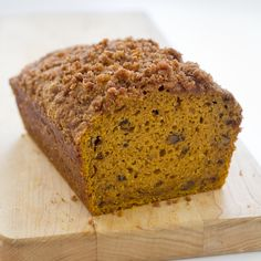 'Tis the season for great Pumpkin Bread. Tangy with cream cheese, crunchy with streusel topping, and spicy with candied ginger—our Pumpkin Bread recipe is perfect for breakfast, dessert, and non-stop snacking. Kitchen Recipes, Cooking Recipes, Kitchen Cook, Bread Recipes, Cooking Bacon, Pastry Recipes, Kitchen Tips, Vegetarian Recipes, Kitchen