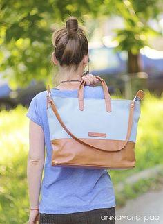 SUNNY Grey handmade leather bag by Annamaria Pap Price: 71€ http://facebook.com/annamariapap