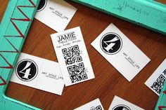 the letter 4: QR Codes for Business Cards