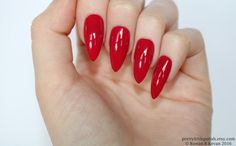 Stiletto nails Red berry stiletto nails Fake nails Press on