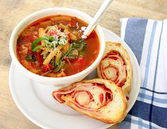 Italian Vegetable Soup (+ a link to Pizza Bread recipe!)