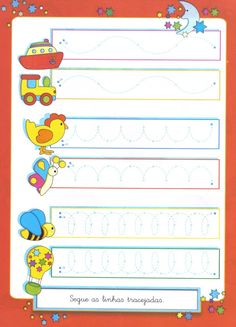 Coordenação Motora Preschool Education, Teaching Kids, Kids Learning, Nursery Worksheets, Printable Preschool Worksheets, Preschool Activities, Activities For Kids, Alphabet Letter Crafts, Educational Games For Kids