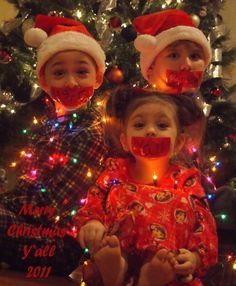 Merry christmas! Loved tying up the kids for this one. Such a great idea for the christmas photo!