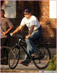Leonardo DiCaprio and Nike Air Max+ 2009 Running Shoes ( Celebrities With Glasses, Air Max 2009, Celebrity Sunglasses, Carrera Sunglasses, Leonardo Dicaprio, Nike Air Max, Running Shoes, Bicycle, Mens Tops