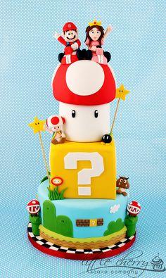 Mario Wedding Cake by Little Cherry Cake Company, via Flickr