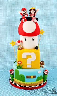 Mario Wedding Cake by Little Cherry Cake Company, via Flickr