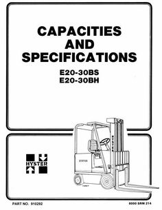 Original Illustrated Factory Spare Parts List for Hyster
