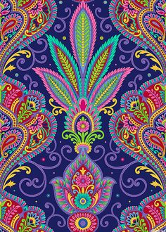 Imperial Paisley - Fan of Feathers-Quilt Fabrics from www.eQuilter.com