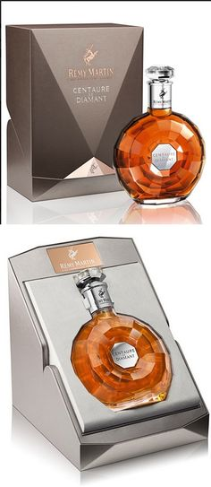 Remy Martin Centaure de Diamant and is so beautiful PD Alcohol Bottles, Liquor Bottles, Drink Bottles, Perfume Bottles, Whisky, Beverage Packaging, Bottle Packaging, Wine Design, Bottle Design