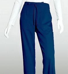 4 Pocket Logo Elastic Back - Indigo Scrub Shoes, Scrub Pants, Sanibel Scrubs, Destination Branding, Greys Anatomy Scrubs, Women's Flares, Medical Scrubs, Drawstring Pants, Dental