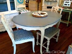 Gray top dining room table