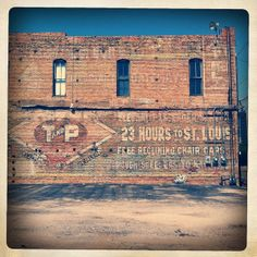 """Faded sign on brick.  """"Ghost signs in Deep Ellum, in Dallas, Texas by MOLLYBLOCK, via Flickr"""""""