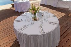 Each table was named after an area that was specialn to the bride and groom with a brief decription of why.  This made for some amusing reading and for the brief description to be elaberated on during the speeches.www.serenity-weddings.com