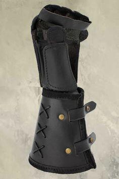 Leather Gauntlet - Left Hand - Black