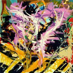 "Saatchi Art Artist Celine BRON; Painting, ""ARBRES EN FLEURS"" #art"