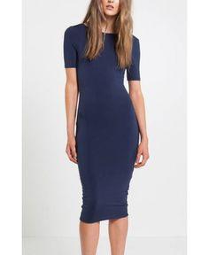Mossman The Reckoning Dress In Midnight Blue