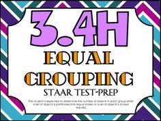 STAAR Test-Prep Task Cards!TEKS ALIGNED: 3.4H: The student is expected to determine the number of objects in each group when a set of objects is partitioned into equal shares or a set of objects is shared equally.THIS INCLUDES: -20 multiple choice test-prep task cards-Answer key-Student recording sheet*These cards are a great way to assess student understanding and prepare for the STAAR test! **All questions are directly aligned to the 3rd Grade Math STAAR Test!