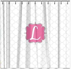 Monogrammed Petals Shower Curtain