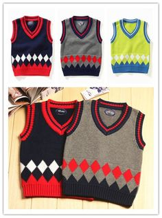 Ruirs Nice Boys Girls Sweater Vest School Uniforms V-Neck Kids Knit Pullover Vest Sweater Knit Vest Waistcoat