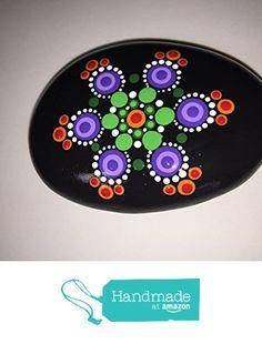 Hand Painted Mandala Stone #147 from Mafa Stones http://www.amazon.com... Lovely little mandala!