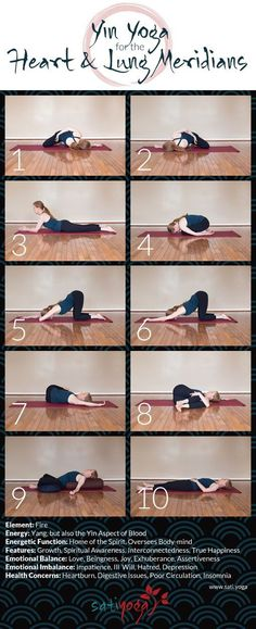 Yin Yoga Sequence for the Heart & Lung Meridians, which are located in the arms . Yin Yoga Sequence for the Heart & Lung Meridians, which are located in the arms and upper back. Mat Yoga, Bikram Yoga, Iyengar Yoga, Vinyasa Yoga, Ashtanga Yoga, Different Types Of Yoga, Lunge, Burn Out, Impatience