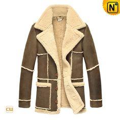 CWMALLS® Designer Shearling Sheepskin Coat CW819431