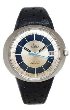 OMEGA BLUE DYNAMIC DATE AND AUTOMATIC STAINLESS STEEL CIRCA 1970