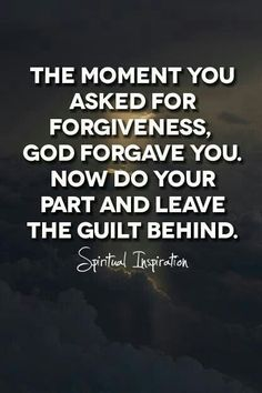 Overcome guilt.