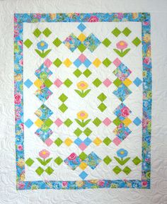 Garden Posies Quilt Pattern CTG-135 (advanced beginner, baby, wall hanging, lap and throw, twin)