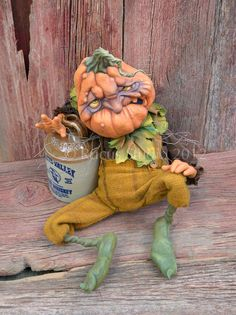 Rucus Studio Delmar the Drunkin Punkin Art Print by Scott Smith - X-Small Halloween Doll, Halloween Projects, Holidays Halloween, Vintage Halloween, Halloween Pumpkins, Happy Halloween, Halloween Decorations, Halloween Party, Scott Smith