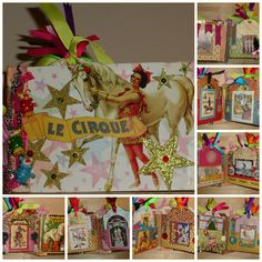 Handcrafted Le Cirque mini-album. available at https://www.zibbet.com/enchanted-revelries/le-cirque-old-worlde-circus-theme-mini-album-ooak