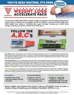Weight Loss Accelerate Pack.  #All natural #cleanse #coffee #max http://www.experiencevalentus.com/gaylenejen