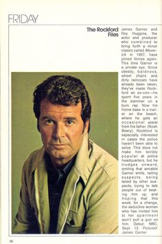 The Rockford Files in the September 7, 1974 Fall Preview edition of TV Guide (via The Rap Sheet)