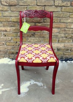 Nouvelle Vie Furniture Tell City Chair Red Dining Chairs Kitchen Shabby Chic