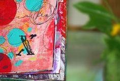 mixed media art journals pink soul studios - xo