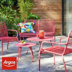 Diy Garden Furniture, Diy Garden Decor, Outdoor Furniture Sets, Outdoor Decor, Garden Ideas, Metal Garden Table, Garden Chairs, Room Decor Bedroom, Diy Room Decor