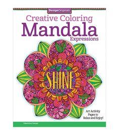 Adult Coloring Book Design Originals Creative Mandala Expressions