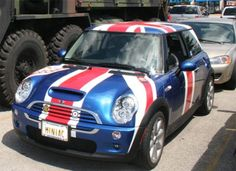 """mini cooper convertible union jack paint 